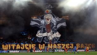 Kibice Jagiellonii podczas półfinałowego meczu piłkarskiego Pucharu Polski: Jagiellonia Białystok - Miedzi Legnica