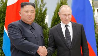 Spotkanie Kim Dzong Una z Putinem