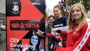 Mistrzostwa Europy siatkarek, zegar w Łodzi