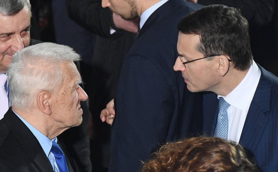 Marszałek senior Kornel Morawiecki i premier Mateusz Morawiecki