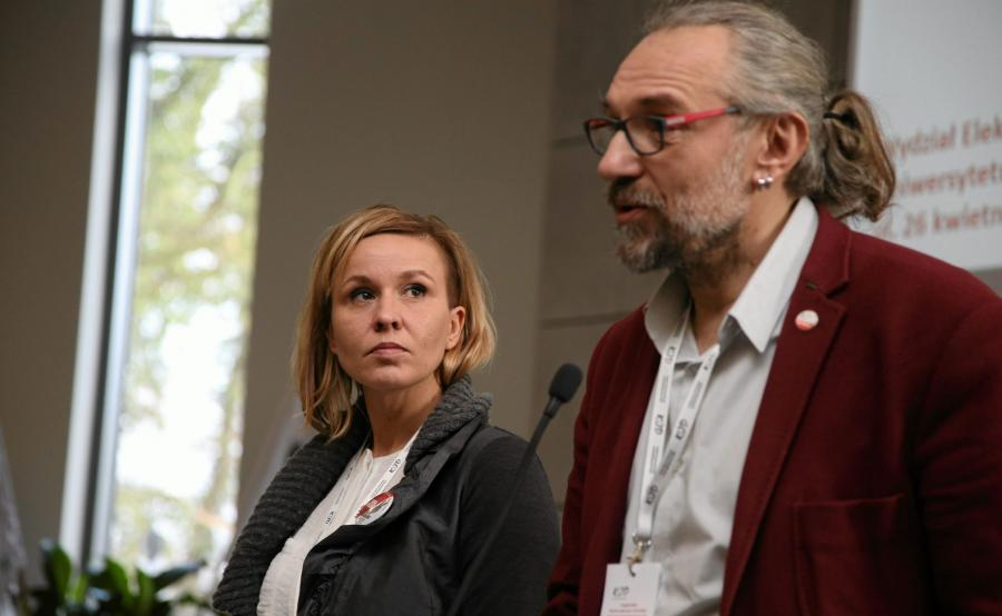 Magdalena Filiks i Mateusz Kijowski z KOD