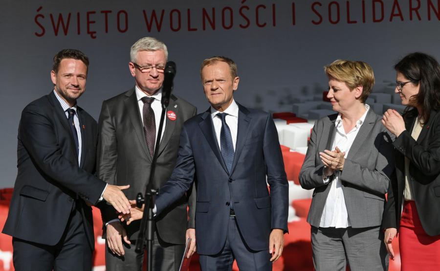 Rafał Trzaskowski, Jacek Jaśkowiak, Donald Tusk, Hanna Zdanowska, Aleksandra Dulkiewicz