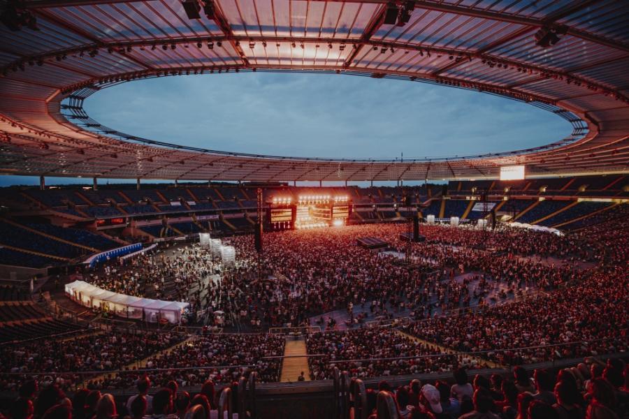 Stadion Śląski, koncert SMOLIK x MIUOSH x JIMEK x NOSPR fot.Damian Kramski