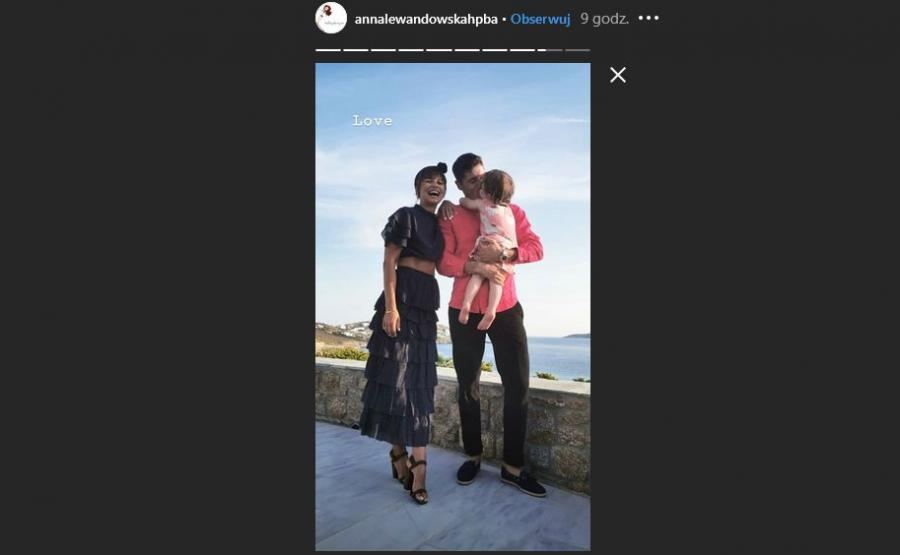 Anna, Klara i Robert Lewandowscy