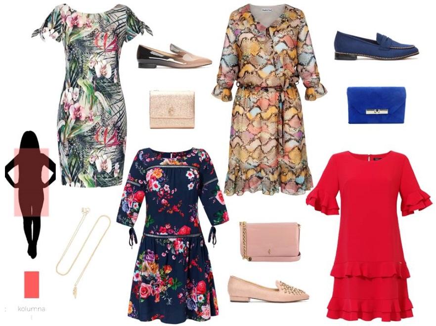 286c460838dd78 Sukienki odpowiednie dla sylwetki KOLUMNA: zielona sukienka w kwiaty - Midori  Feminine Fashion/midori.pl, sukienka granatowa w czerwone kwiaty - Midori  ...