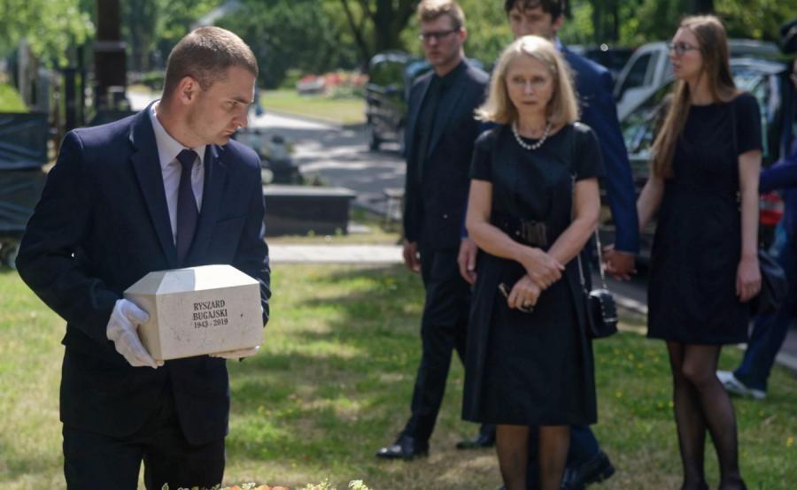 Uroczystośći pogrzebowe Ryszarda Bugajskiego na Cmentarzu Wojskowym Powązki w Warszawie