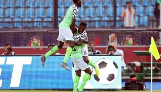 Radość piłkarzy reprezentacji Nigerii