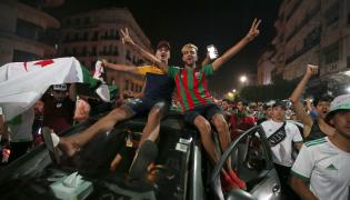 Kibice reprezentacji Algierii