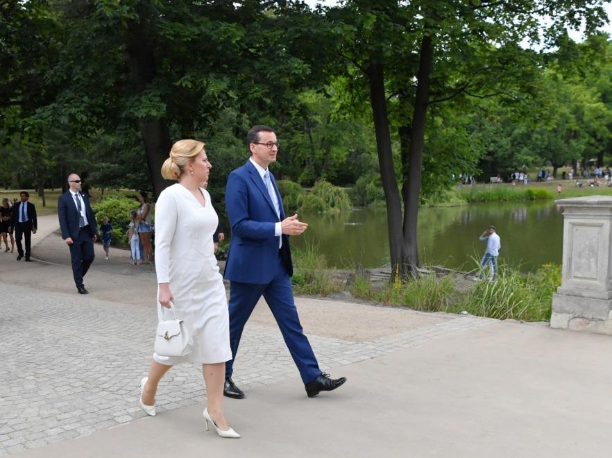 Zuzana Czaputova i Mateusz Morawiecki
