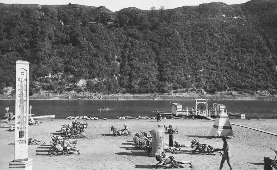 Zaleszczyki nad Dniestrem. Fragment plaży tzw. cienistej
