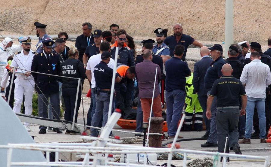 Katastrofa łodzi z migrantami