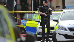 Brytyjska policja w Manchesterze