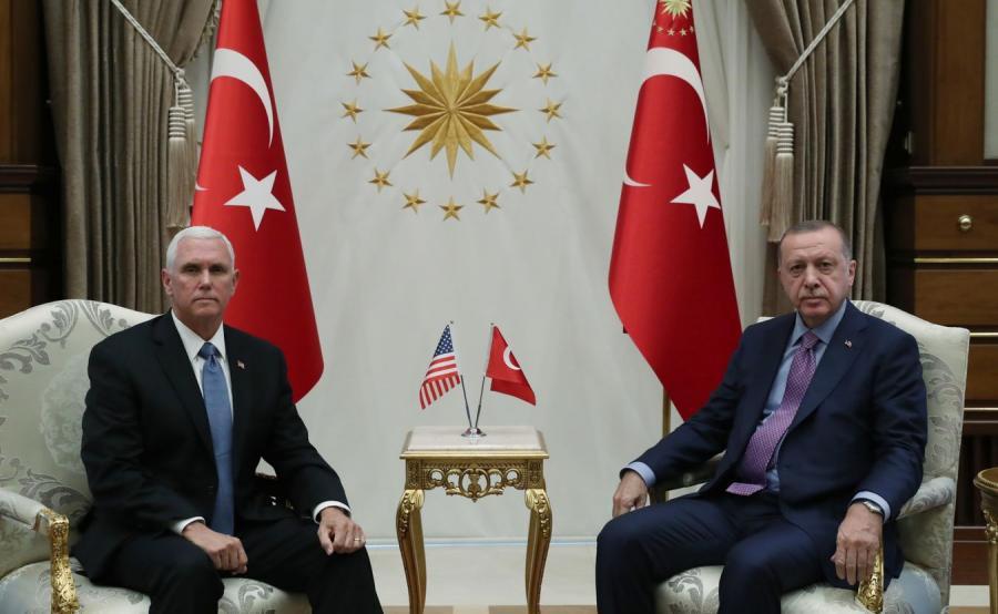 Mike Pence i  Recep Tayyip Erdogan