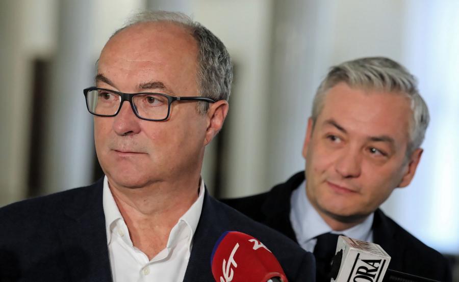 Robert Biedroń i Włodzimierz Czarzasty