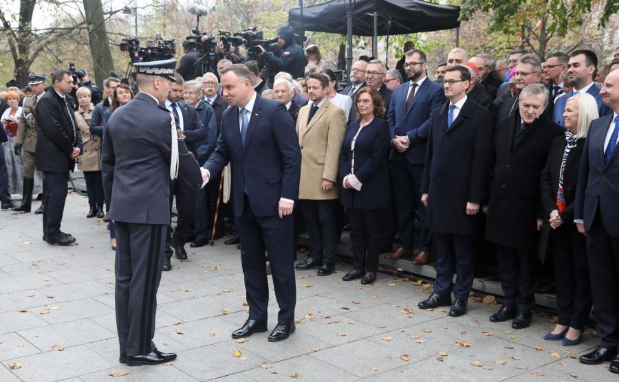 Uroczystości odsłonięcia pomnika Wojciecha Korfantego