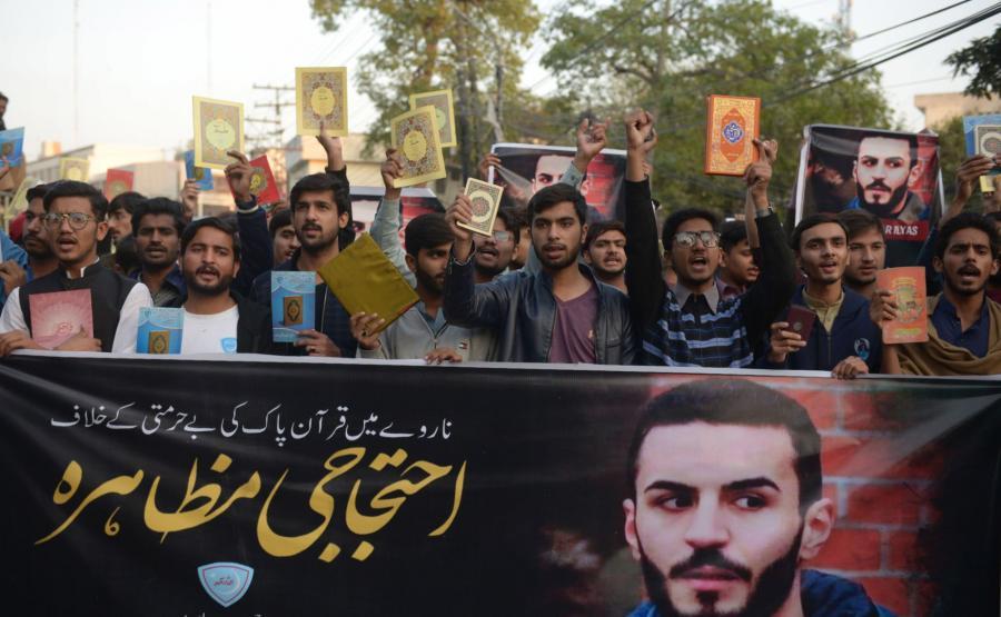 Pakistański protest przeciw spaleniu Koranu
