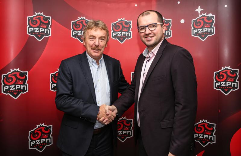 Zbigniew Boniek i Jarosław Radzio, menadżer reprezentacji (Łączy nas piłka)