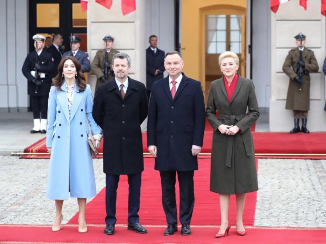Księżna Maria Elżbieta i książę Fryderyk oraz Andrzej Duda i Agata Kornhauser-Duda