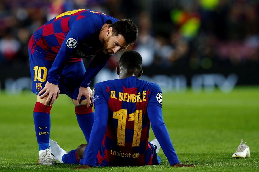 Ousmane Dembele i Lionel Messi