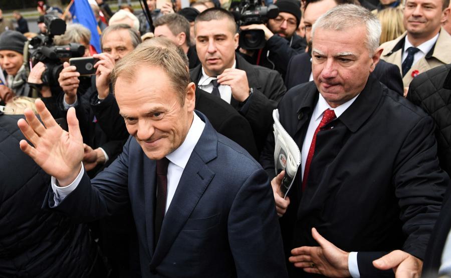 Donald Tusk i Paweł Graś