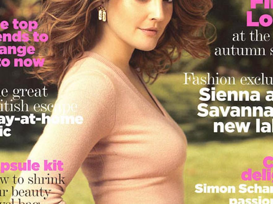 Drew Barrymore na okładce magazynu \