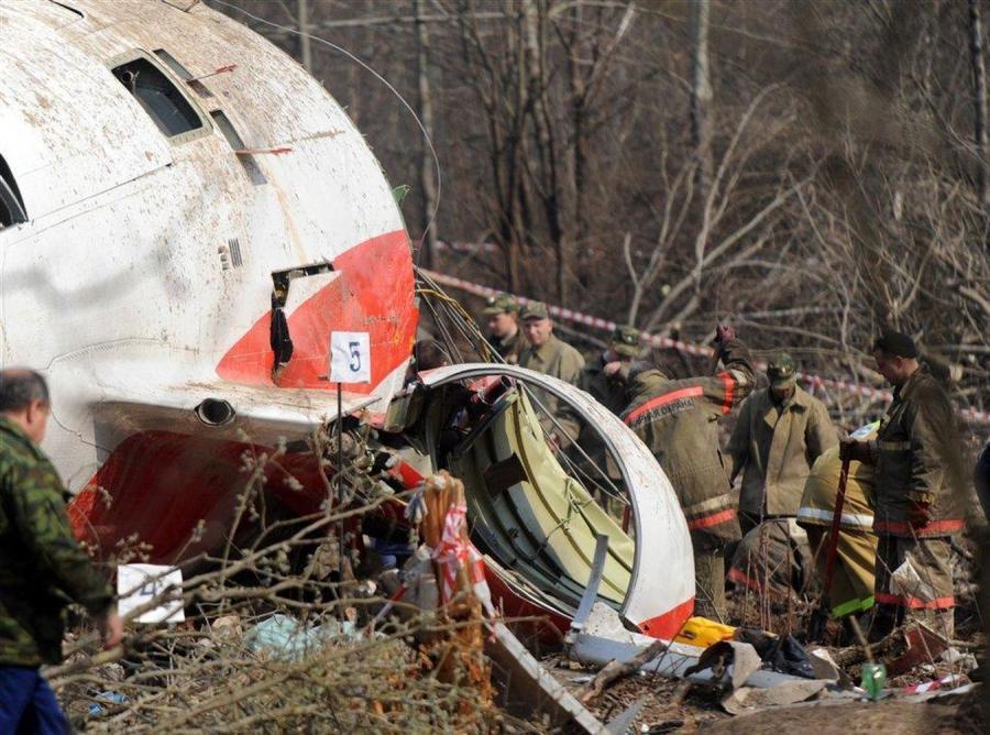 Miejsce katastrofy rządowego Tu-154