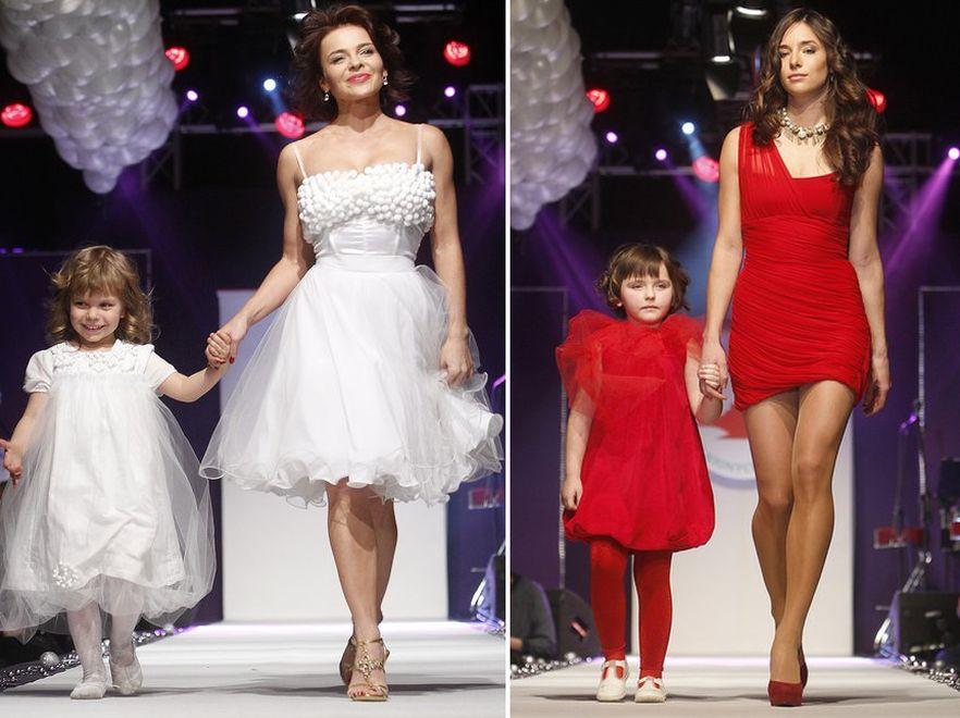 Gwiazdy z dziećmi w świątecznym pokazie mody