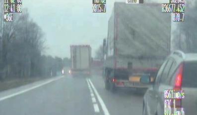 Policja nagrała dziki rajd ciężarówki. Zobacz film