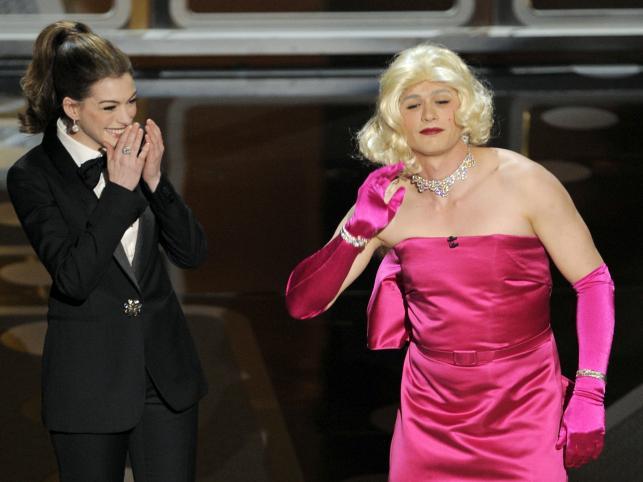 Para mieszana prowadzących galę: Anne Hathaway i James Franco