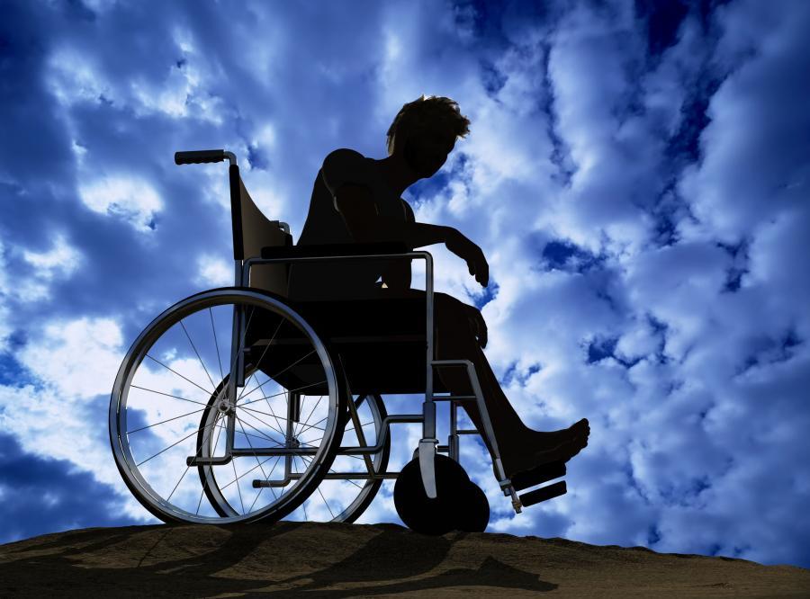 Pacjent na wózku inwalidzkim