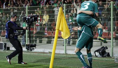 Piłkarze Śląska ciesza się po zdobyciu drugiej bramki
