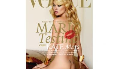 """Nagą Kate Moss oglądaliśmy już wielokrotnie. Na przykład na okładce magazynu """"Vogue""""..."""