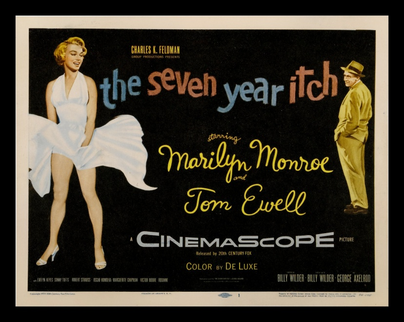 Plakat reklamujący film z udziałem Marilyn Monroe, \