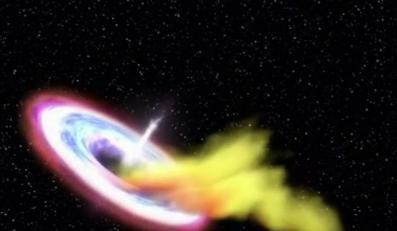 Po raz pierwszy zaobserwowano śmierć gwiazdy w czarnej dziurze
