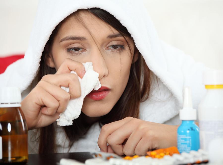 Najczęściej chorujemy na grypę między styczniem a marcem