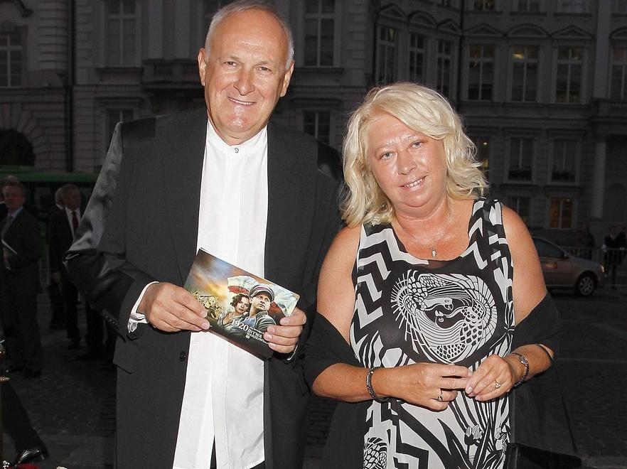 Jacek Cygan z żoną na premierze filmu \