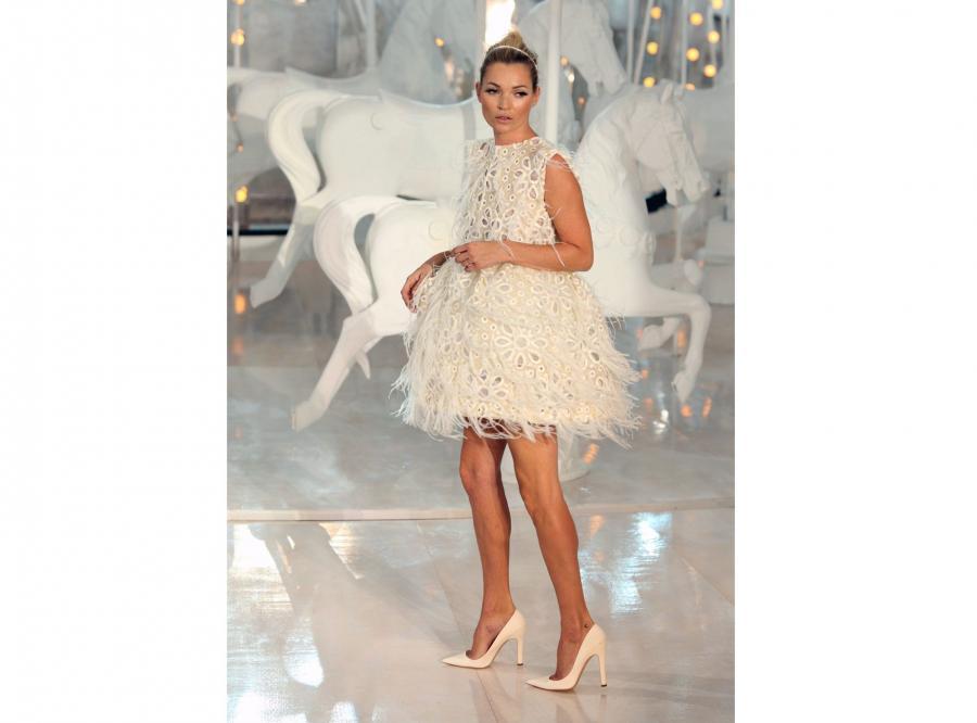 Kate Moss na pokazie kolekcji Louis Vuitton