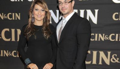 Kasia Skrzynecka z mężem