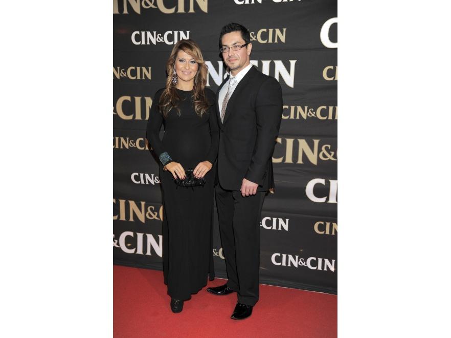 Oboje partnerzy postawili tego wieczoru na elegancką czerń.