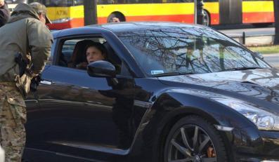 Joanna Mucha na spotkanie z premierem podjechała nissanem GT-R