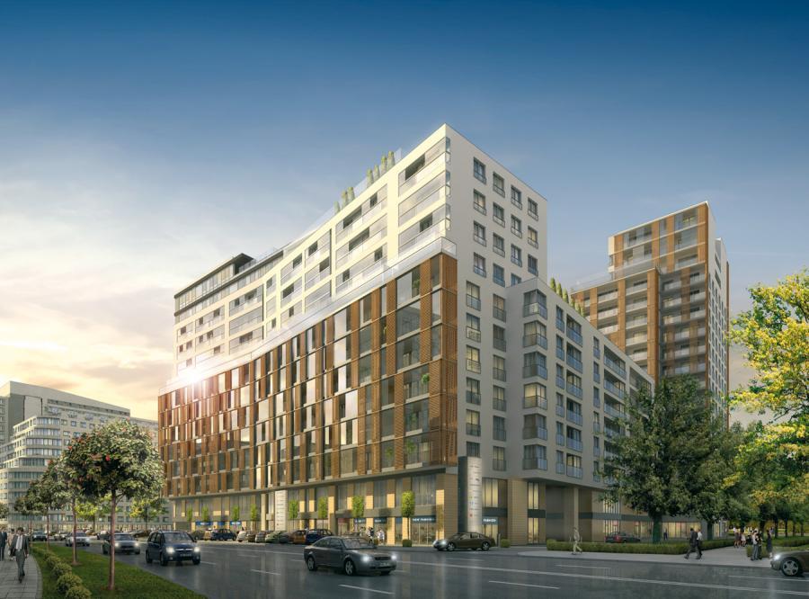 Grzybowska 4:apartamentowiec Dom Development