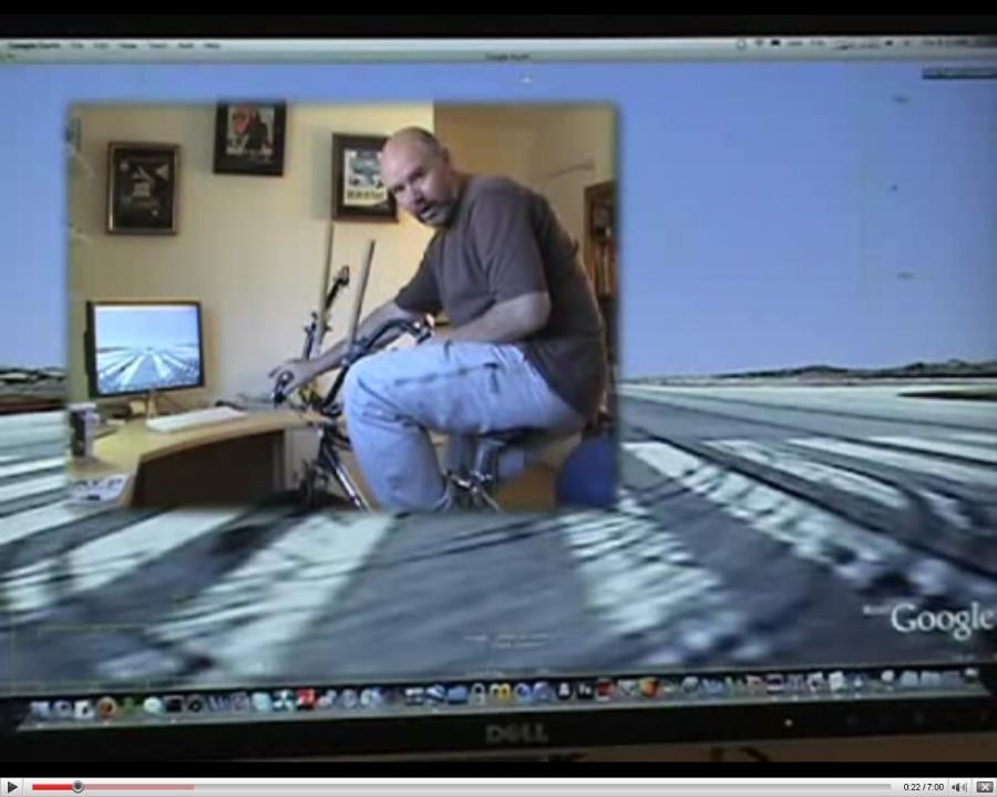 Rowerem wokół świata w Google Earth