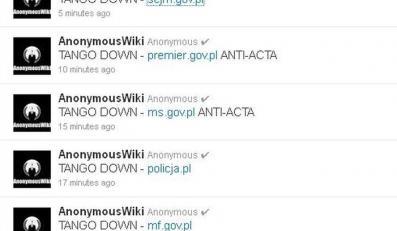 Anonymous atakuje strony rządowe i grozi publikacją dokumentów