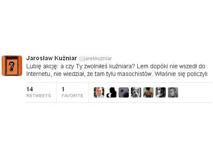 Jarosław Kuźniar na Twitterze