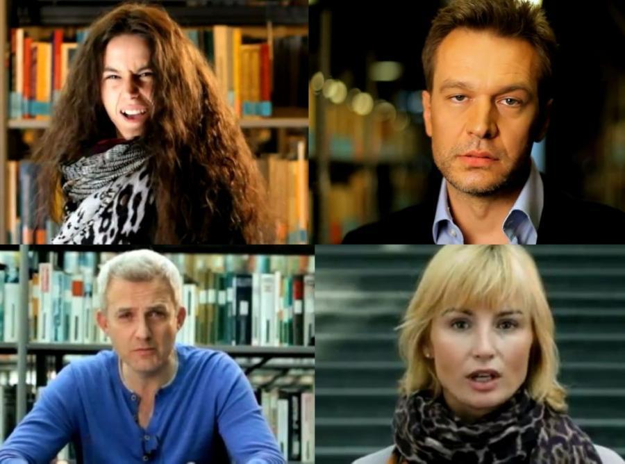 Michał Szpak, Michał Żebrowski, Joanna Brodzik i Hubert Urbański
