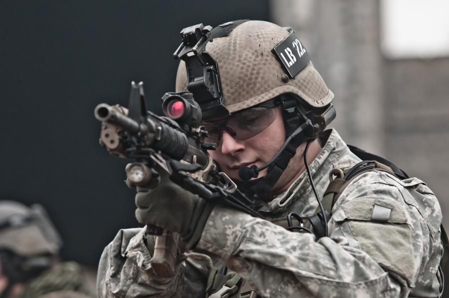 Amerykański żołnierz, zdjęcie ilustracyjne