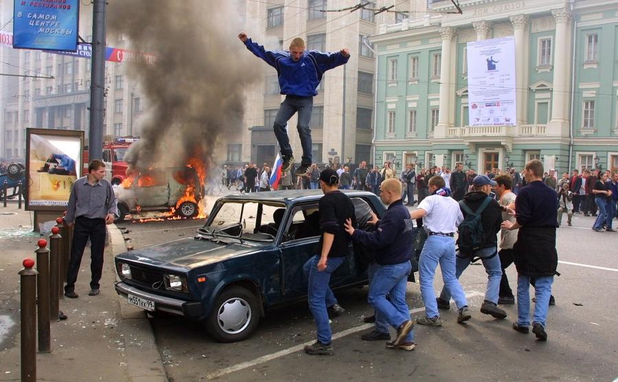 Protesty kibiców w Moskwie