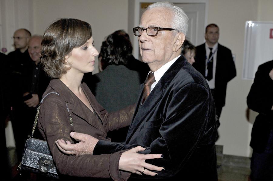 Andrzej Łapicki z żoną Kamilą