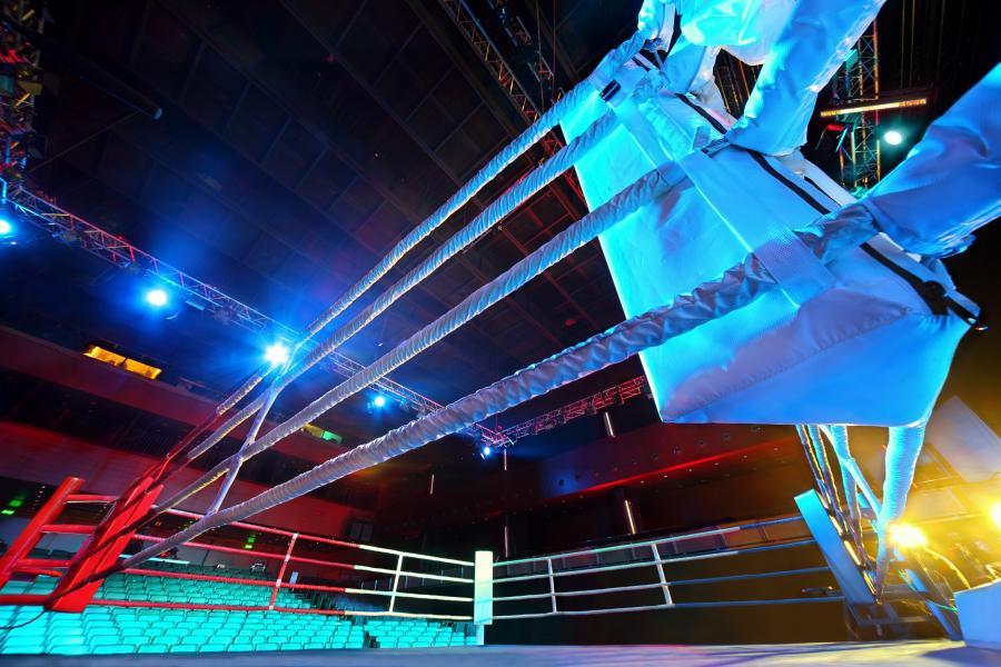 Pusty ring bokserski