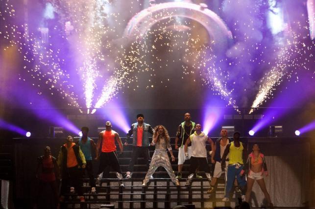 Jennifer Lopez podczas koncertu w Caracas